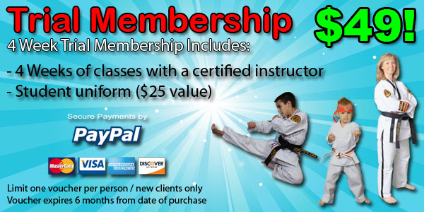 4 week trial membership ata oswego il